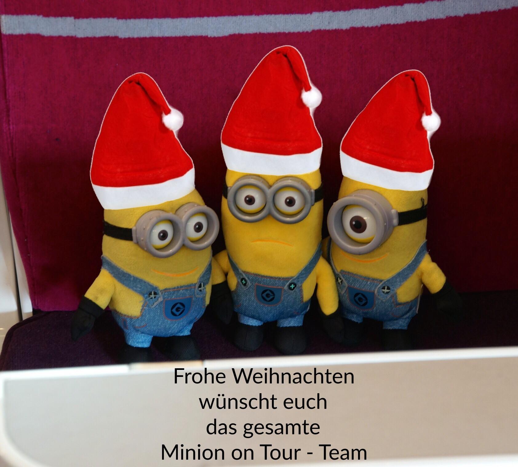Frohe Weihnachten Minions.Frohe Weihnachten Minion On Tour